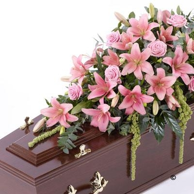 Lily and Rose Casket Spray   Pink *