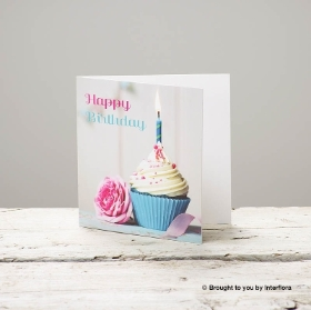 Happy Birthday Cupcake Greetings Card